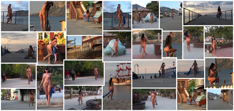 Nude in public movie