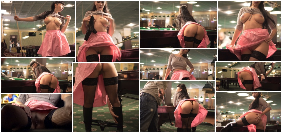 My naughty mood in the billiards